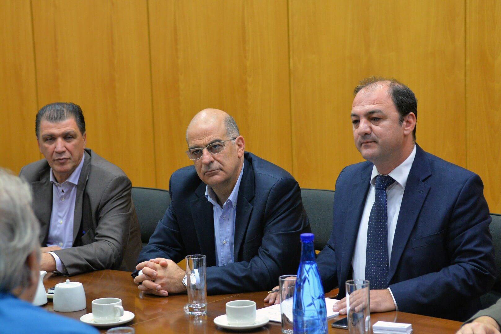 Συνάντηση εργασίας του Υπουργού Ανάπτυξης και Ανταγωνιστικότητας Νίκου Δένδια με το διοικητικό συμβούλιο της ΑΖΚ