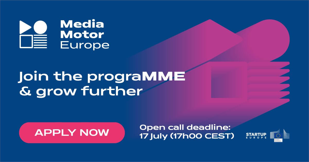 Ανοιχτή πρόσκληση υποβολής αιτήσεων για τη συμμετοχή στον 1ο κύκλο επιχειρηματικής καθοδήγησης του MediaMotorEurope!