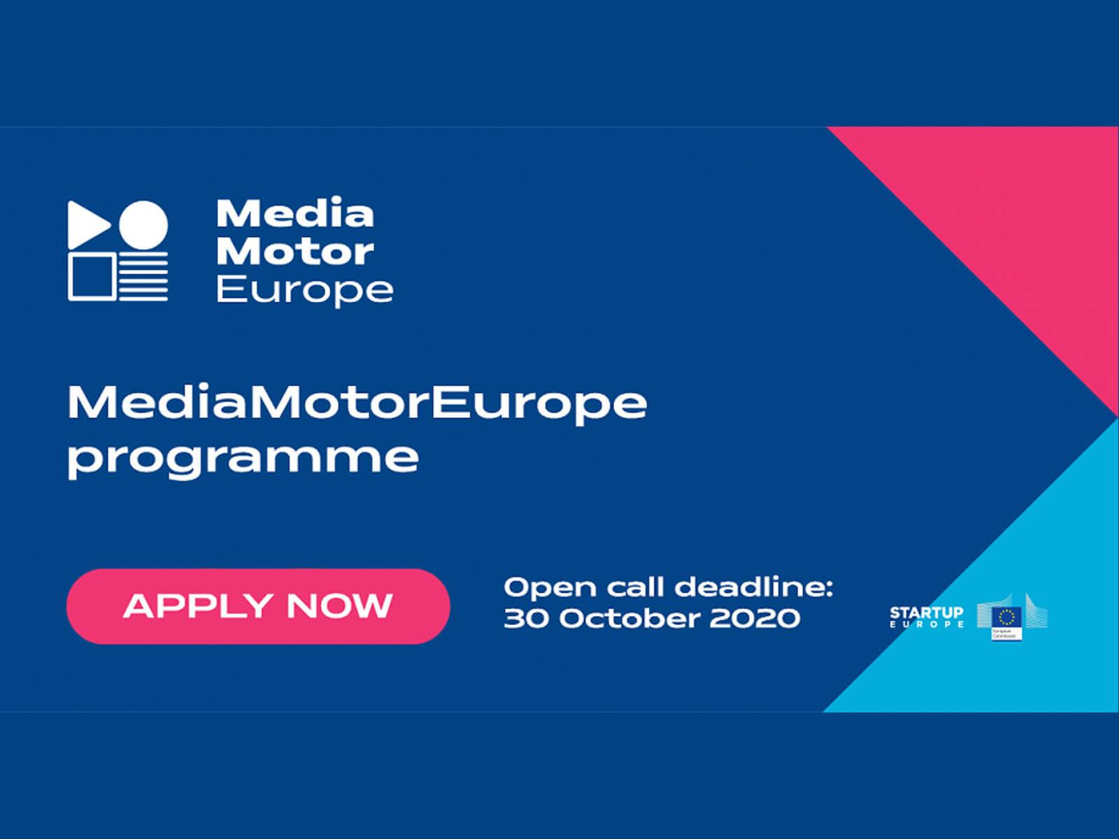 Ανοιχτή πρόσκληση υποβολής αιτήσεων για τη συμμετοχή στον 2ο κύκλο επιχειρηματικής καθοδήγησης του MediaMotorEurope!